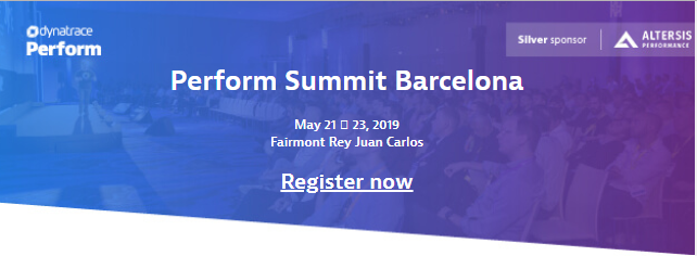 Altersis Performance Silver Sponsor at Dynatrace Perform Summit Europe in Barcelona (May 21 -23)
